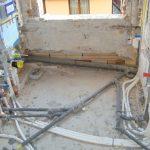 impianto idrico di un appartamento in fase di realizzazione